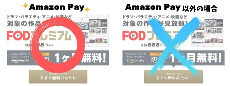 AmazonPay以外は無料トライアルできない