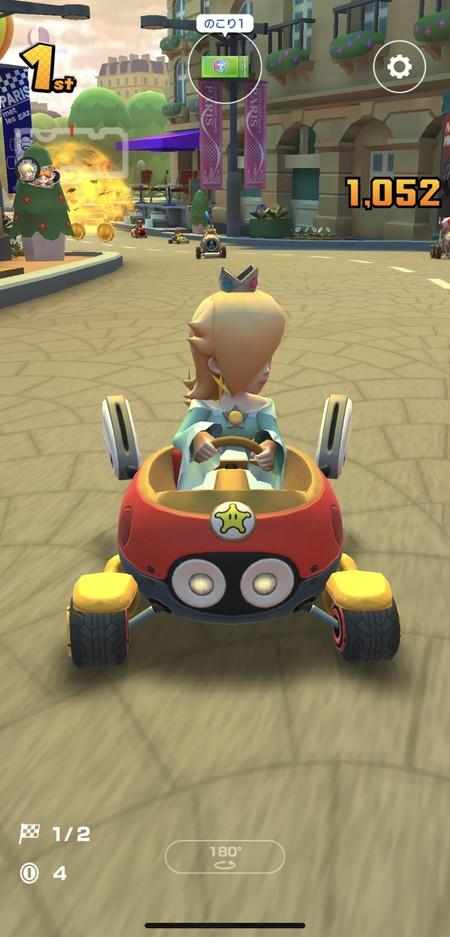 180度をタップ操作すると後ろの様子や車間が確認できる
