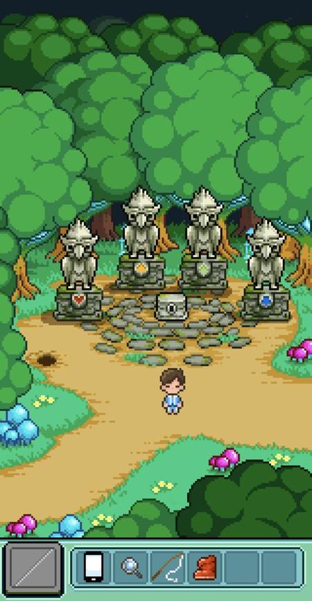 各エリアで集めた宝石は銅像に付ける