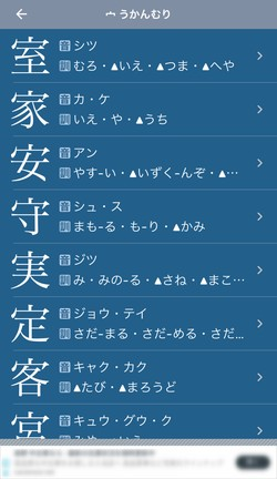 つくりで漢字を調べられることも可能